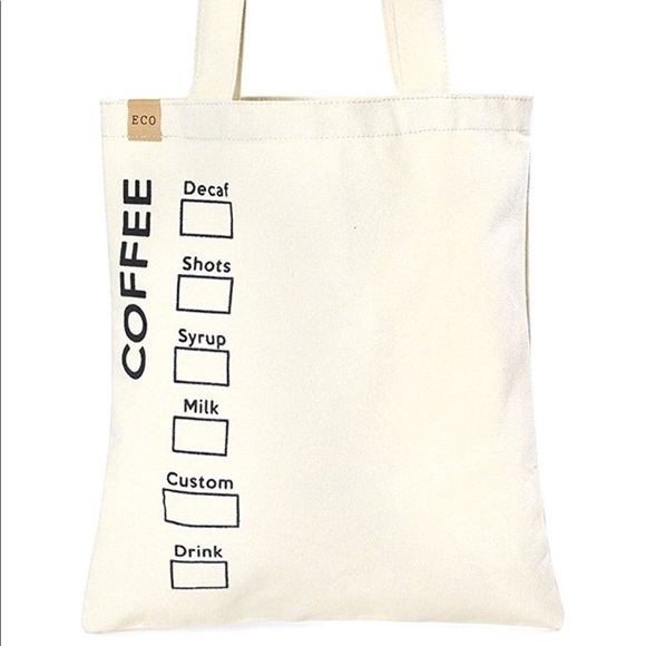55ba11ea90dd48 ECO Bags | Canvas Handmade Cotton Canvas Tote Nwt | Poshmark